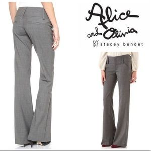 "Alice + Olivia ""Employed"" Gray Dress Slacks Pants"